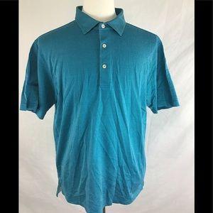 Peter Miller Polo Shirt Mens Size L Blue Green